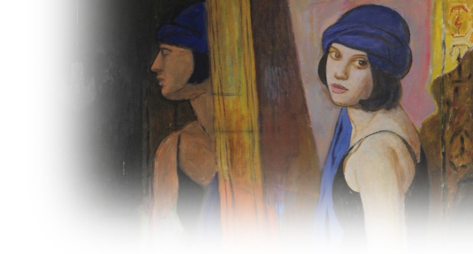 <p>Vito Tongiani, Giovane donna con turbante blu, 2000, Collection PKB</p>